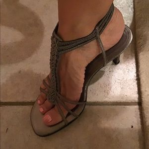 Sandals NINE WEST . Used Grey